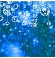 Elegant blue christmas background vector