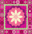Ornamental floral spring poster vector