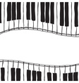 Two piano keys - sketch style vector