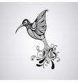 Hummingbird tattoo style vector