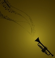 Trumpet with musical symbols vector