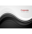 Abstract wavy corporate design vector