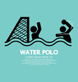 Water polo sport sign vector