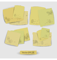 Pieces of paper vector