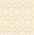 Creamy seamless floral pattern vector