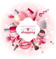 Make-up background vector