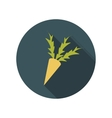 Flat design concept carrot with long shadow vector