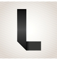 Letter metal ribbon - l vector