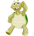 Cute turtle character vector