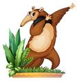 A dancing animal vector