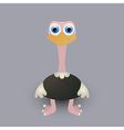 Cute baby ostrich vector