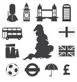 Set of england symbol icons vector