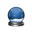 Christmas snow globe with the falling snow vector