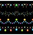 Christmas lights patterns vector