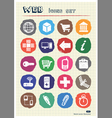 Finance and internet icons set drawn by chalk vector
