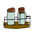 A pair of pepper shakers vector