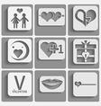 Set valentine day icons vector