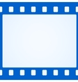 Simple blue film strip background vector