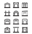 Metal structures icon set vector