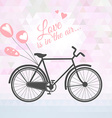 Romantic bicycle with balloons vector