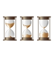 Sand falling in the hourglass vector