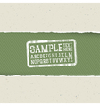 Ecology template torn paper vector