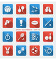 Set of sport equipments of flat design vector