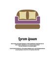 Vintage brown sofa vector