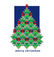 Greeting card christmas tree vector