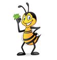 Cartoon bee with money vector