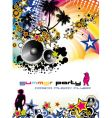 Music event discotheque dj flyer vector