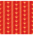 Seamless red heart background vector