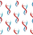 Stylized dna spiral helix seamless pattern vector