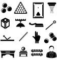 Pool snooker billiards icons set vector