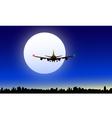 Moon and night flight vector