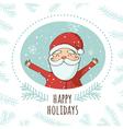 Christmas santa greeting card happy holidays vector