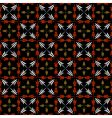 Seamless checked pattern with crosses vector
