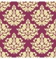 Vintage purple damask design vector