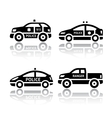 Set of transport icons - police cars vector