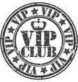 Grunge vip club rubber stamp vector