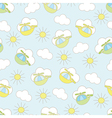 Baby seamless pattern with helicopter vector