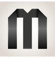 Letter metal ribbon - m vector