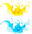 Splash juice drink and water splash vector