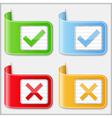 Check and cross symbols vector