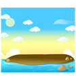 Small tropical island vector
