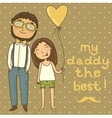 Card for fathers day vector