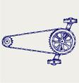 Chain gears vector