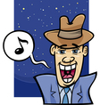 Singing man cartoon vector