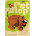 Pet shop poster dog vector