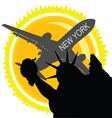 Travel in new york vector